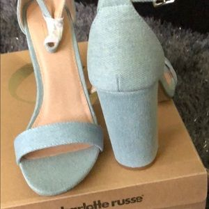 Brand new denim heels